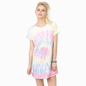 Tobi Pastel Tie Dye T-Shirt Festival Dress